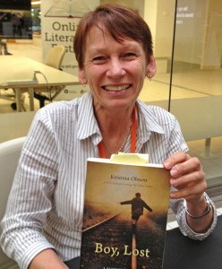 Kristina Olsson with her literary memoir, Boy, Lost