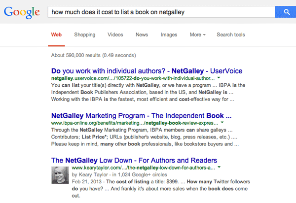 Netgalley-search