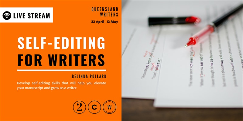 Feature image: Self-Editing for Writers Course, Queensland Writers Centre